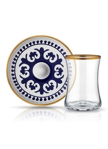 Koleksiyon Tiryaki Çay Seti 6 Li Bb Ahi Renkli